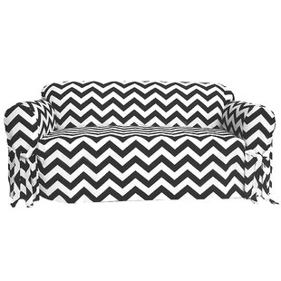 Shop Chevron Box Cushion Sofa Slipcover by Latitude Run