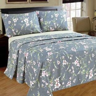 Boska 1000 Thread Count 100% Cotton Flat Sheet ByAugust Grove