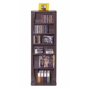Canoe Multimedia Wood Storage Rack by Atlantic