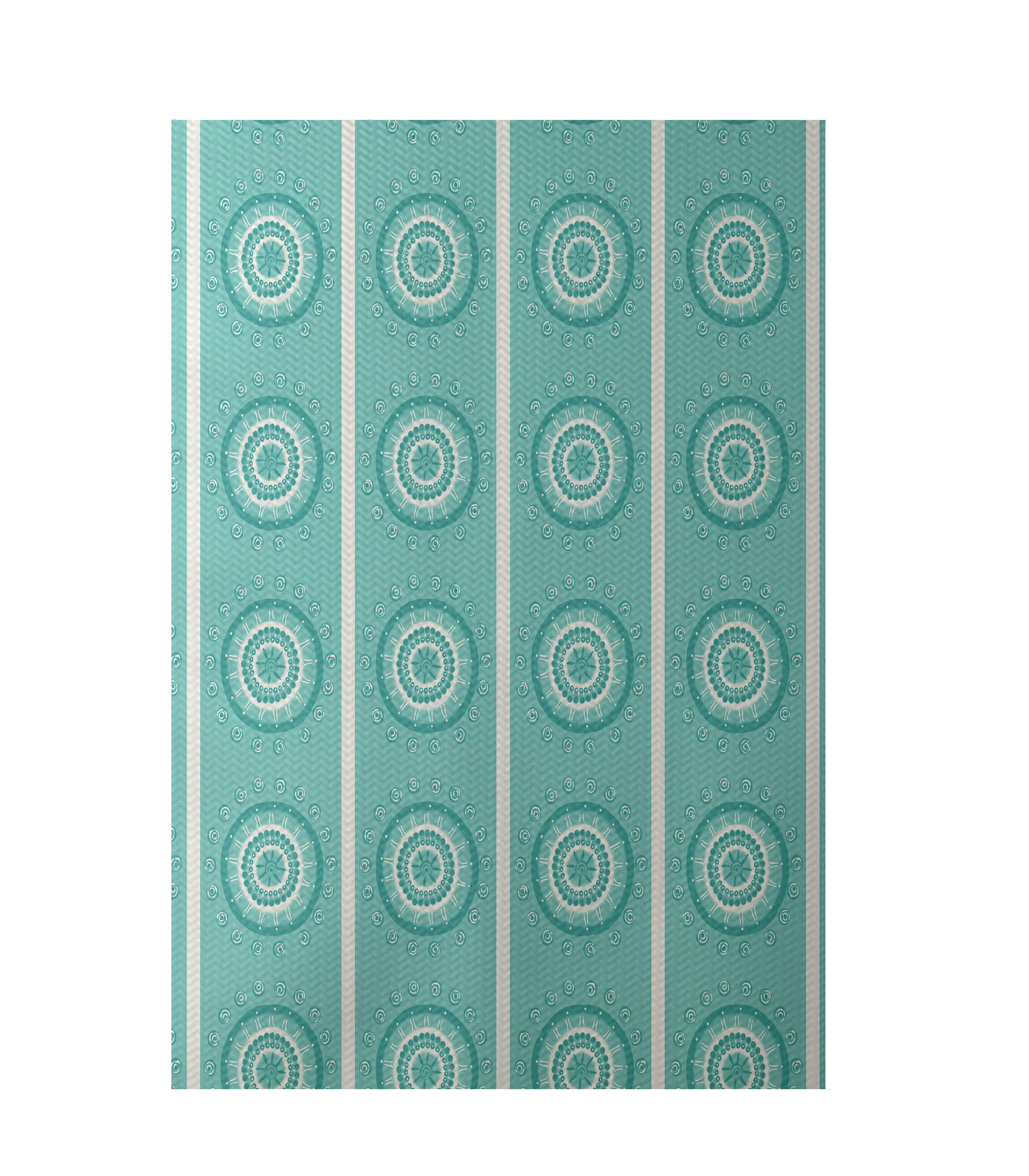 E By Design Flatweave Aqua Area Rug