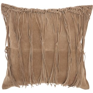 Bill Leather Throw Pillow