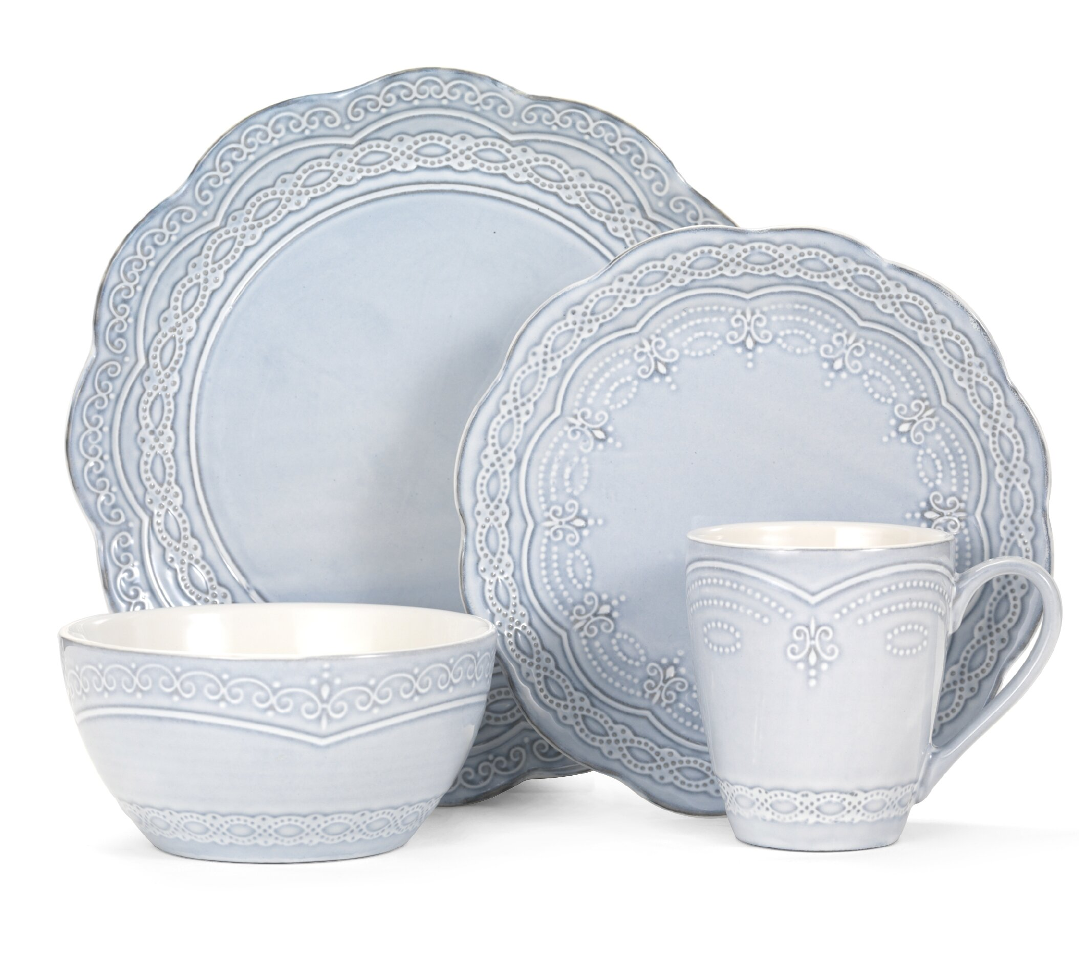 Pfaltzgraff Everyday Serephina 16 Piece Dinnerware Set Service for 4 \u0026 Reviews | Wayfair  sc 1 st  Wayfair & Pfaltzgraff Everyday Serephina 16 Piece Dinnerware Set Service for ...