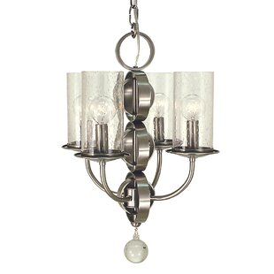 Framburg Compass 4-Light Shaded Chandelier