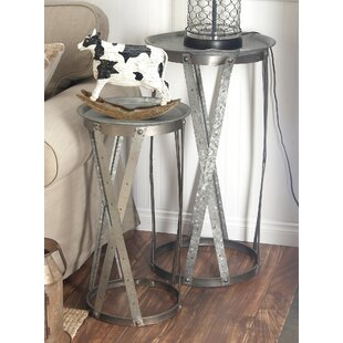 2 Piece Tray Table Set