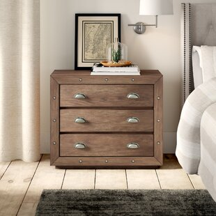 Woodway Farmhouse Style 3 Drawer Accent Chest