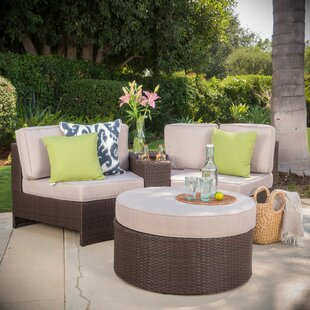 Latitude Run Daniela 4 Piece Conversation Set with Cushions