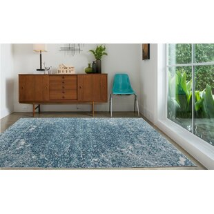 Temple Meads Turquoise/Silver Indoor/Outdoor Area Rug