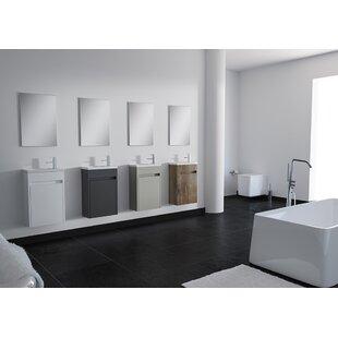 Nico 16 Wall-Mounted Single Bathroom Vanity Set with Mirror by Orren Ellis