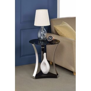 Crowson Chrome End Table by Orren Ellis