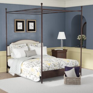 Reviews Rockledge Upholstered Canopy Bed by Three Posts Reviews (2019) & Buyer's Guide