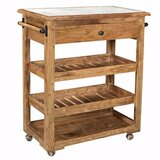 Barons Spacious/Sturdy Kitchen Island with Marble Top by Gracie Oaks