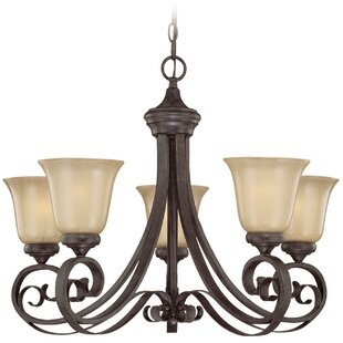 Wilhoit 5-Light Shaded Chandelier by Fleur De Lis Living