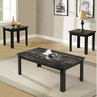 Ebern Designs Sun Coffee and End Table Set (Set of 3)