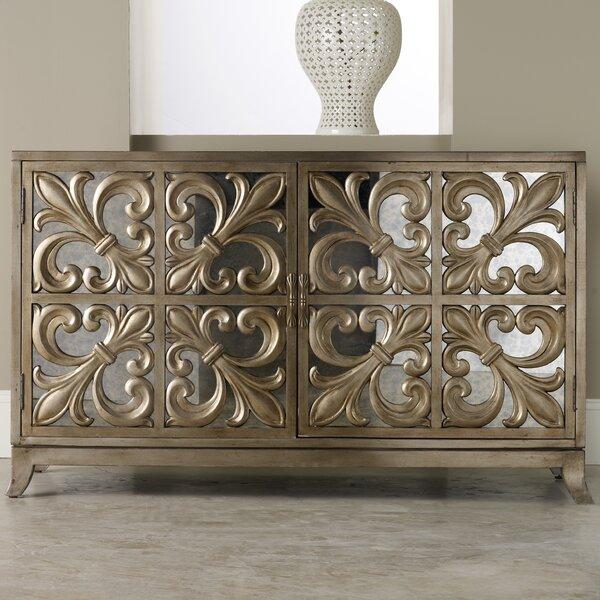 Hooker Furniture Melange Fleur-de-lis Mirrored Sideboard & Reviews | Wayfair - Hooker Furniture Melange Fleur-de-lis Mirrored Sideboard & Reviews