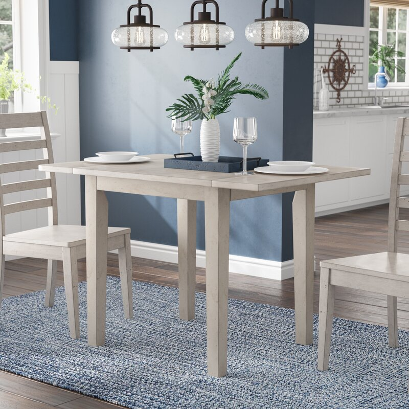Rosecliff Heights Rutledge Drop Leaf Rubber Solid Wood Dining Table Reviews Wayfair