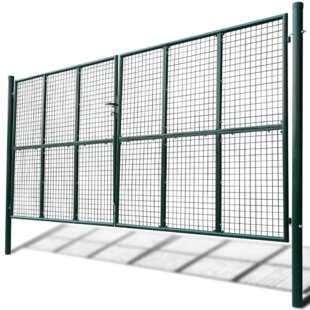 14' X 8' (4.2m X 2.5m) Metal Gate By Sol 72 Outdoor