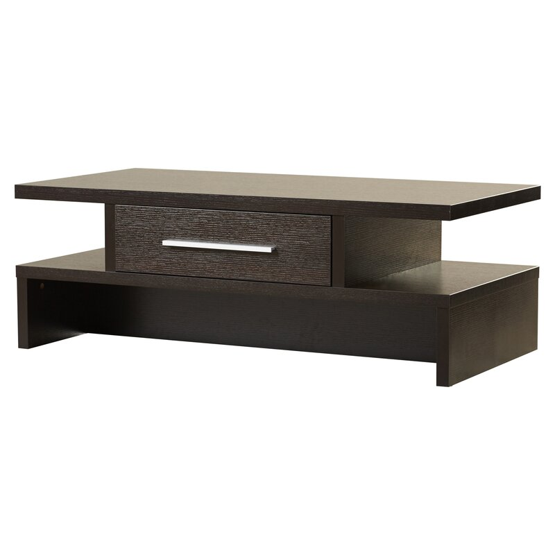 Zipcode Design Wylie Rectangular Drawer Coffee Table Reviews - Coffee table with drawers and shelf