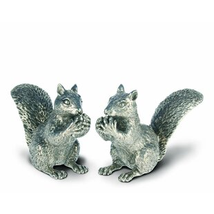 Woodland Creatures Pewter Squirrel Salt and Pepper Shaker Set