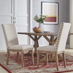 Emerie Rustic X-Base 7 Piece Dining Set
