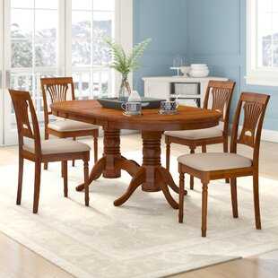 Schacht 5 Piece Extendable Solid Wood Dining Set Winston Porter