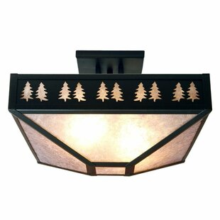 Band of Trees 4-Light Semi Flush Mount by Steel Partners