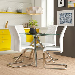 Kristin Dining Set With 4 Chairs By Zipcode Design