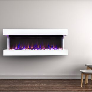 Bland Wall Mounted Electric Fireplace by Orren Ellis