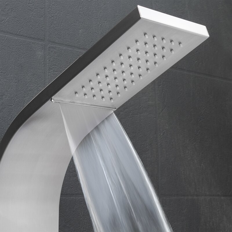 AKDY Temperature Control Rain Shower Head Shower Panel & Reviews ...