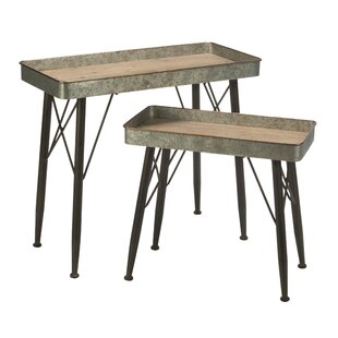 Read Reviews Charmayne Versatile 2 Piece Nesting Tables by Gracie Oaks