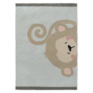 Cheltenham Monkey Brown Green Area Rug