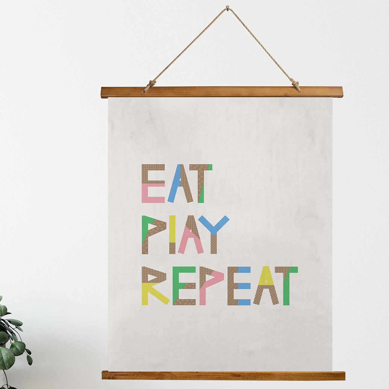 Isabelle Max Microfiber Eat Play Repeat Scroll Tapestry Wayfair