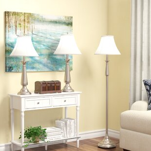 Darby Home Co Marion 3 Piece Table and Floor Lamp Set