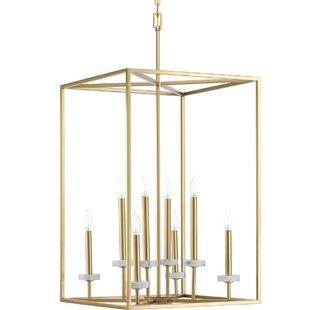 Read Reviews Jancis 8-Light Square/Rectangle Chandelier By Mercer41