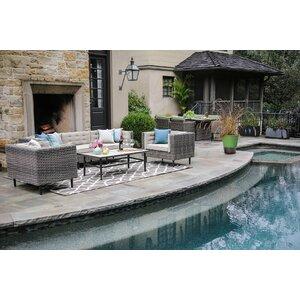 Kenn 6 Piece Sunbrella Sofa Set with Cushions