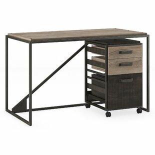 Contemporary industrial furniture Vintage Edgerton Industrial Piece Desk Office Suite Allmodern Modern Contemporary Industrial Office Furniture Allmodern