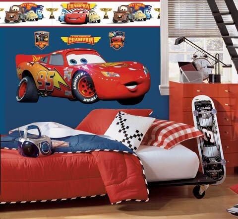 Disney Cars Lightning McQueen Room Makeover Wall Decal - Wallhogs Disney Cars Lightning McQueen Room Makeover Wall Decal
