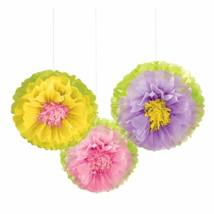 Spring Flower Fluffy Paper Centerpieces & Hanging Décor (Set of 6)