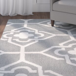 Brazeal Hand-Hooked Gray/Ivory Indoor/Outdoor Area Rug