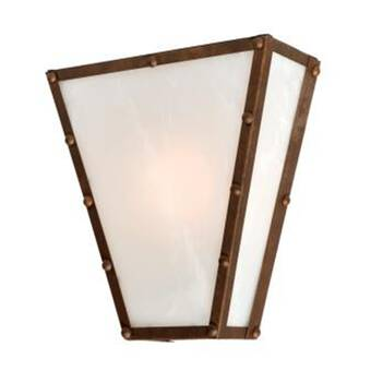 Steel Partners Spur Of The Moment Timber Ridge 1 Light Wall Sconce Wayfair
