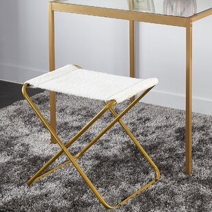 Borger Sling Accent Stool by Wrought Studio