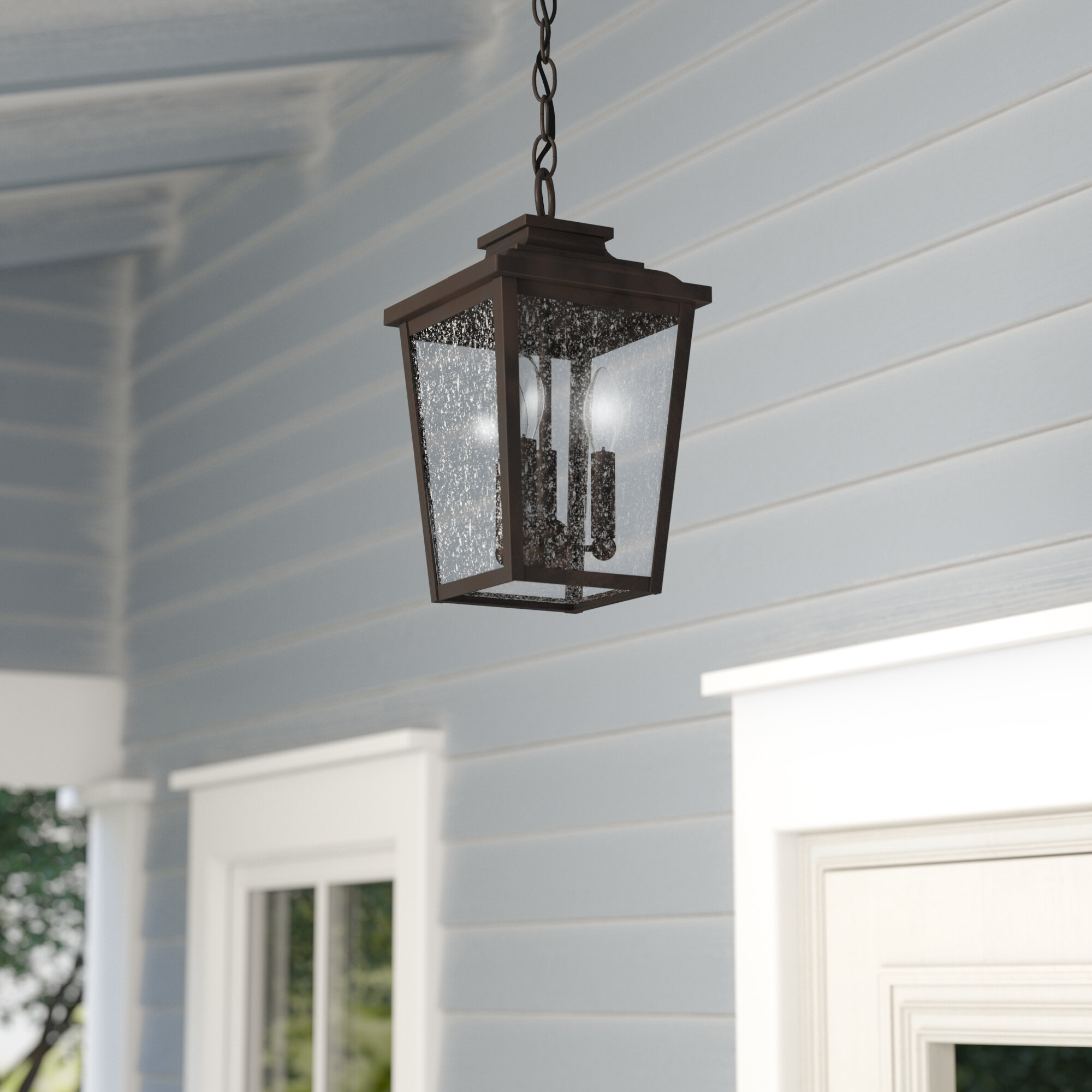 outdoor hanging porch lights front porch wayfair three posts mayhugh 3light outdoor hanging lantern reviews
