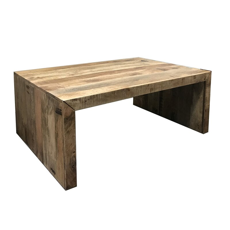 Union Rustic Luper Mango Wood Coffee Table Wayfair Ca