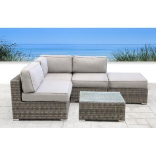 Yeomans Resort Grade 2 Piece Rattan Sectional Seating Group by Rosecliff Heights New