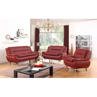 Chiasson 3 Piece Living Room Set by Orren Ellis