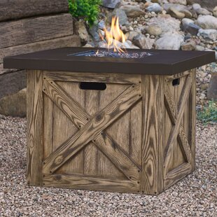 Real Flame Farmhouse Concrete Propane Fire Pit Table