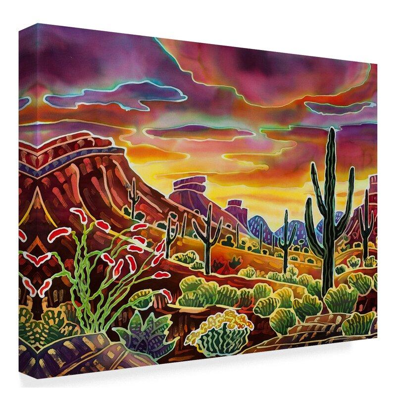 Trademark Art Sonoran Desert Glow Acrylic Painting Print On Wrapped Canvas Reviews Wayfair