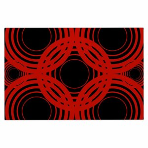 'Geo Red' Crimson Decorative Doormat
