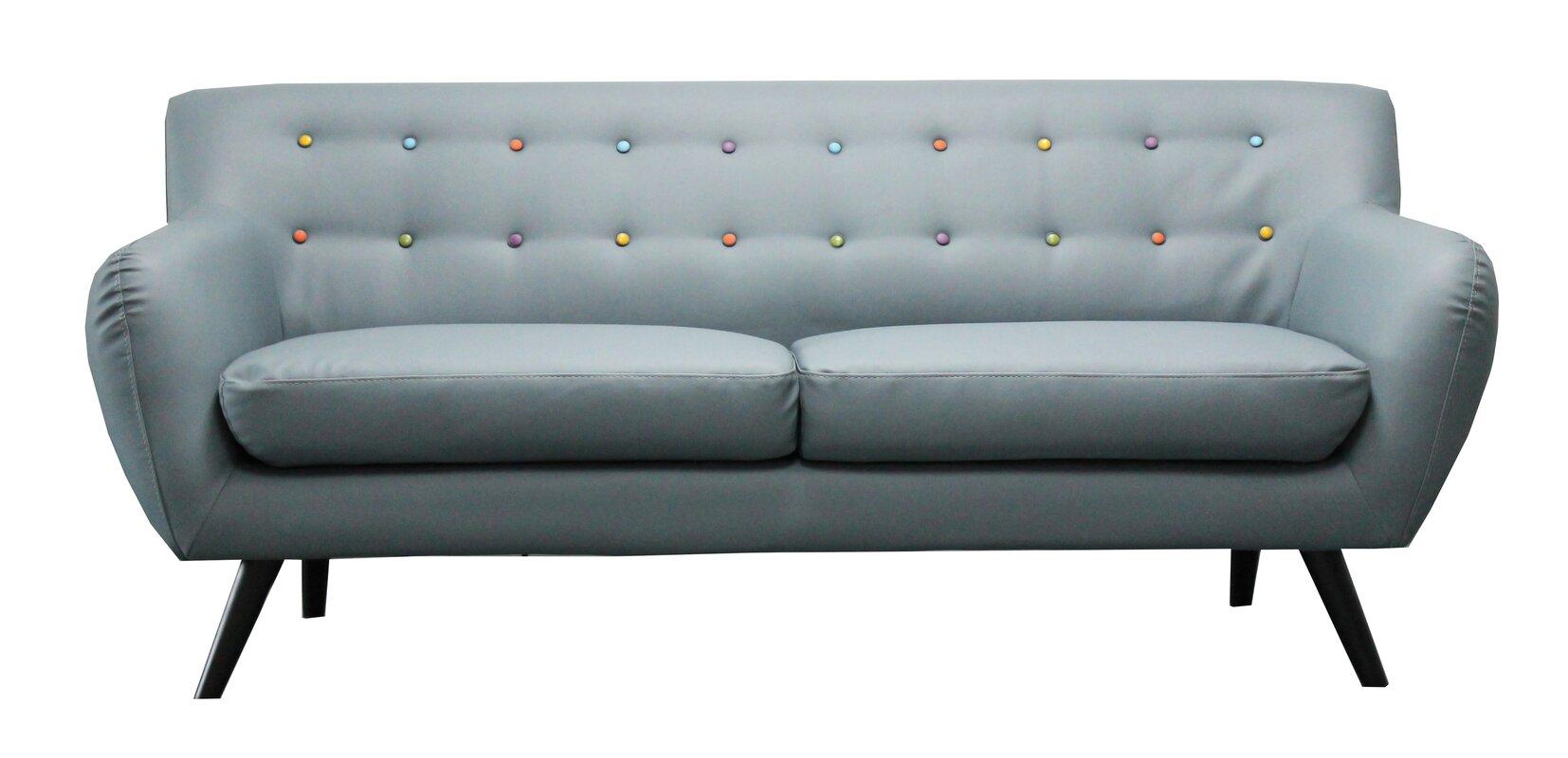 madison home usa mid century modern tufted sofa  reviews  wayfair - defaultname