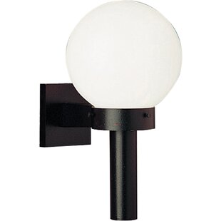 Compare prices Triplehorn 1-Light Incandescent Aluminum Sconce By Alcott Hill