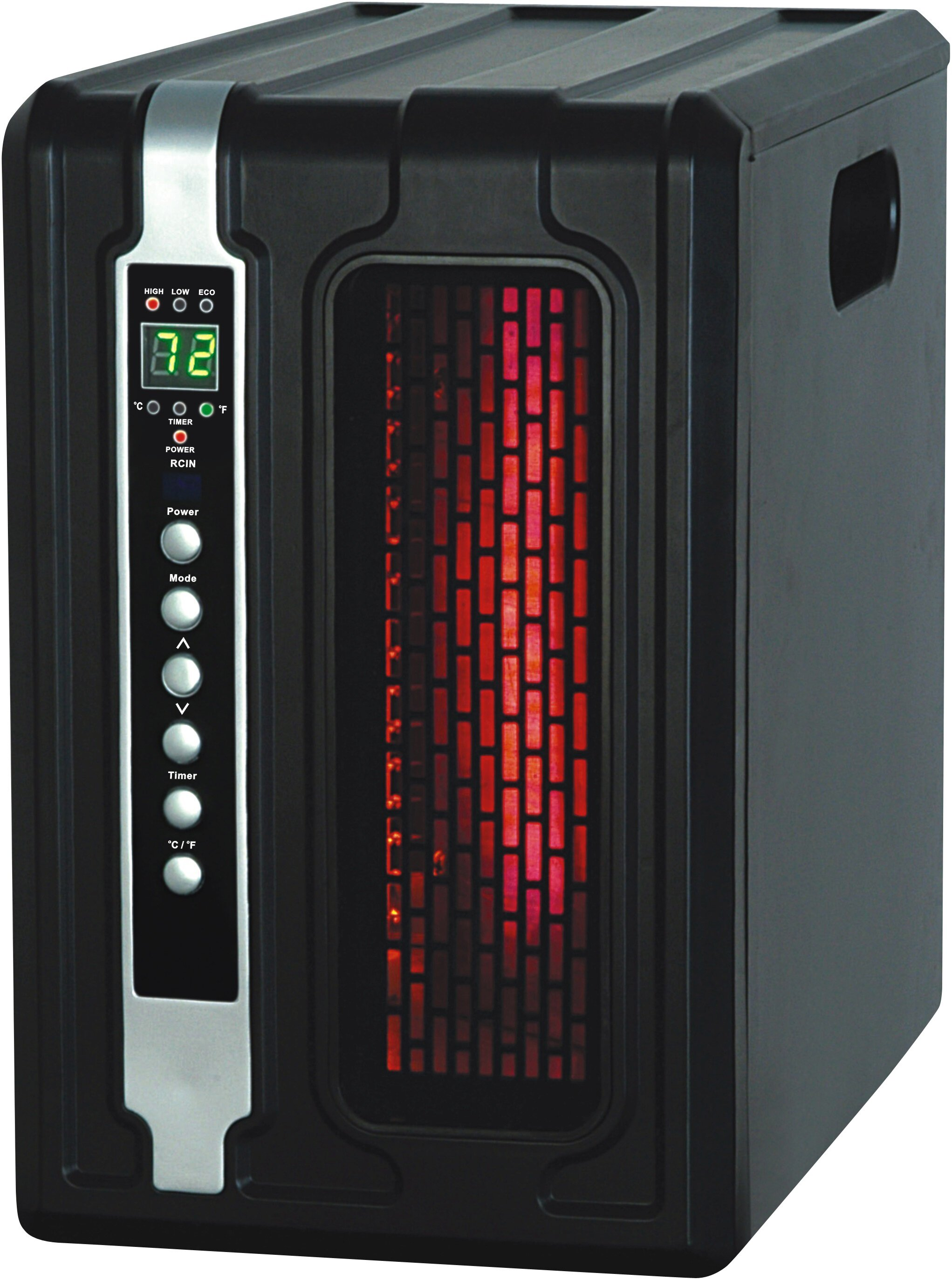 23 1500w Electric Infrared Quartz Tower Space Heater Led Safe Remote Control Heating Cooling Air Air Conditioners Heaters